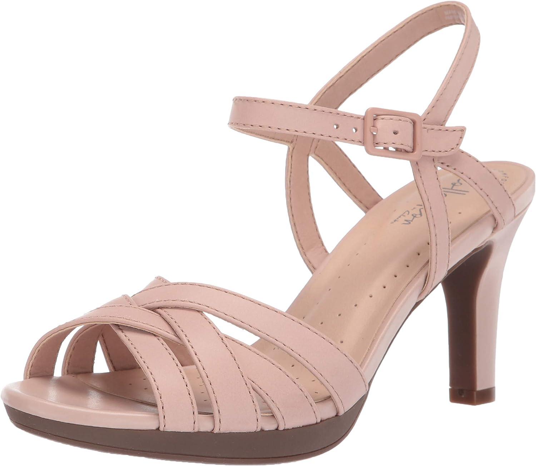 Clarks Women's Adriel Wavy Heeled Sandals