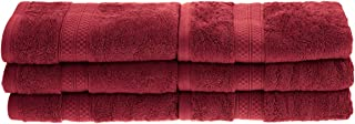 Superior Rayon from Bamboo and Cotton Hand Towels, Velvety Soft and Super Absorbent, Hotel & Spa Quality Hand Towel Set of 6 - Crimson, 16