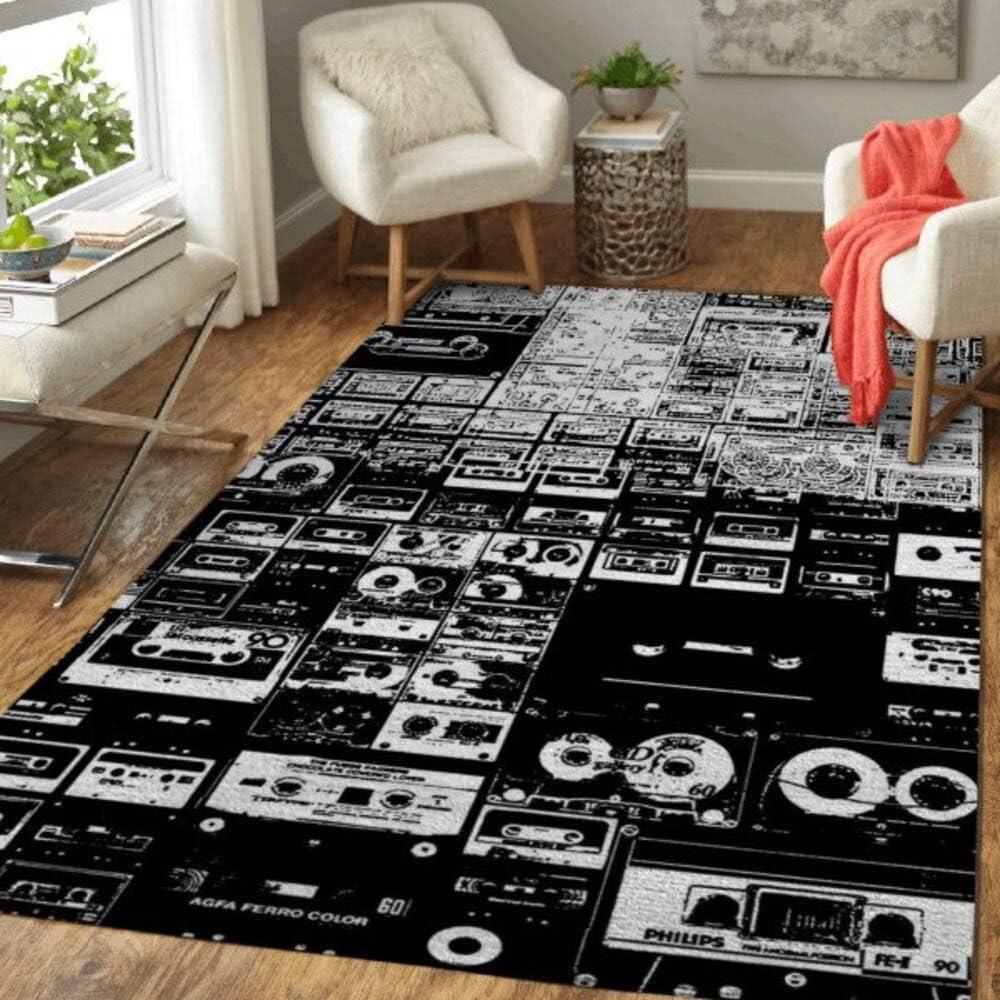 Audio Tape Music Home Decor Area Max 76% OFF Rectangle Rug Under blast sales