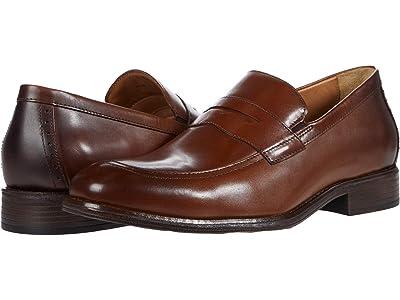 Johnston & Murphy Lewis Penny (Tan Full Grain Leather) Men