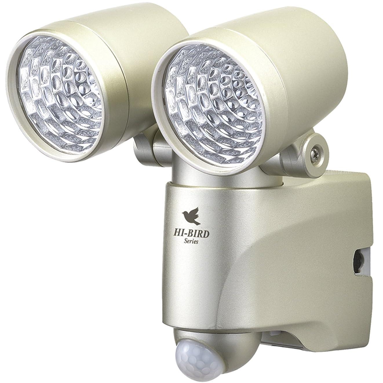 アナロジー引き金コック高儀 EARTH MAN ソーラー式 LEDセンサーライト ダブル 3W×2 SLT-180EC
