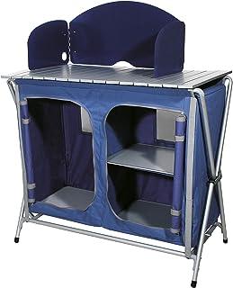 Ferrino Quick Kitchen Plus Mueble de Cocina Plegable de Camping Azul