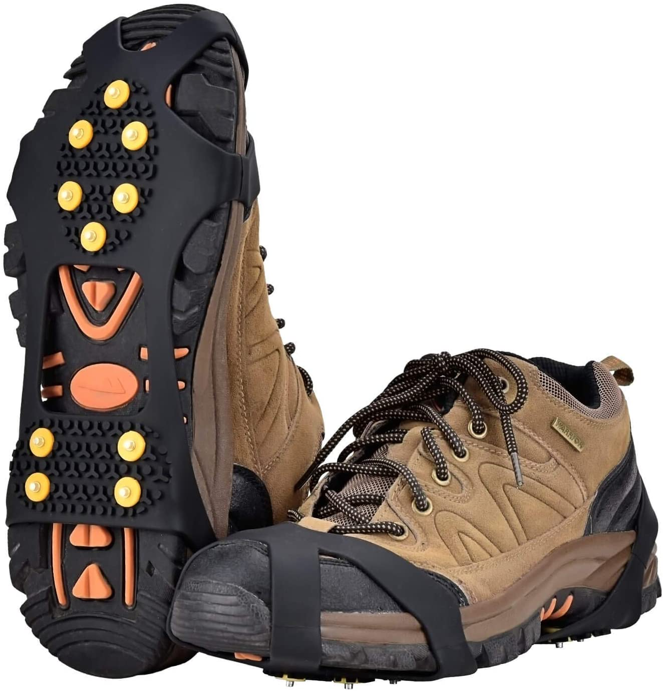 No More Falling 1 Pair Snow Ice Shoe Grip Grippers Active