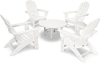POLYWOOD Vineyard 5-Piece Oversized Adirondack Set (White)