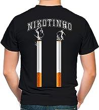 Nikotinho Männer und Herren T-Shirt   Fussball Fan Fun