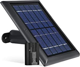 Wasserstein Solar Panel and 1-Pack Rechargeable Battery Bundle Compatible with Ring Spotlight Cam Battery and Ring Stick Up Cam Battery HD - Zero Downtime for Your Ring Cameras (Black)