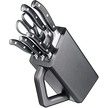 Victorinox 7.7243.6 Set de 6 Bloc Porte-Couteaux, Acier Inoxydable, Noir/Brun, 30 x 5 x 5 cm