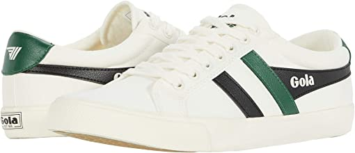 Off-White/Black/Dark Green