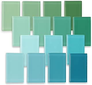 Greens and Teals, Glass Tile Master Sample Pack