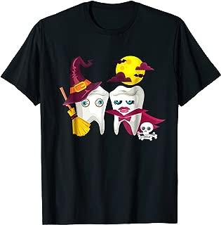 Scary Witch Vampire Teeth Halloween T-shirt Dentist Dental
