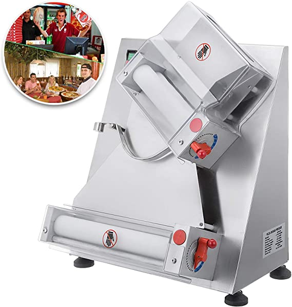 VEVOR Commercial Dough Roller Sheeter 370W Automatically Suitable for Noodle Pizza Bread and Pasta Maker Equipment