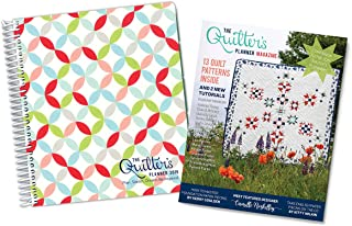 "The Quilter`s Planner 2019 Monthly and Weekly Planner Journal, 8"" x 10"", with Collector`s Magazine: Filled with Tools for Every Quilter, Laminated Cover and Tabs (Orange Peel)"