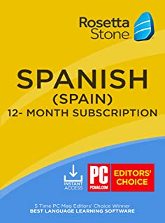 Rosetta Stone: Learn Spanish (Spain) for 12 months [Auto-recurring Subscription]