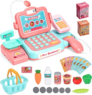 Chuntianli Durable Cash Register Toy-Pretend Play Educational Toy Cash Register with..