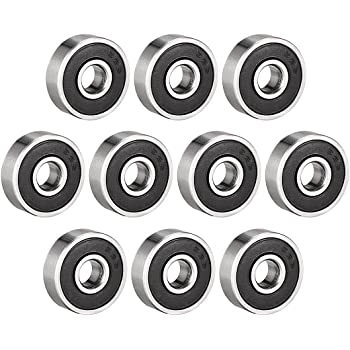 uxcell 626-2RS Ball Bearing 6mm x 19mm x 6mm Double Sealed Deep Groove Bearings Carbon Steel 10pcs