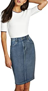 Lexi Womens Pull On Stretch Denim Skirt