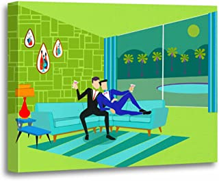 TORASS Canvas Wall Art Print Palm Retro Romantic Gay Springs Mid Century Modern Artwork for Home Decor 16