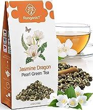 Organic Jasmine Green Tea Pearls Authentic Imperial Dragon Pearls Flowering Strings of Loose Leaf Green Tea that Brings yo...