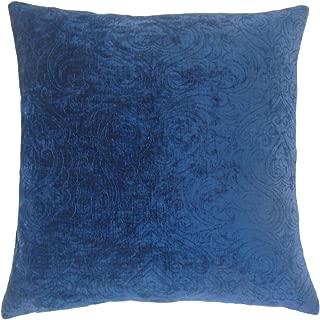 The Pillow Collection Hertzel Solid Bedding Sham Sapphire, Queen/20