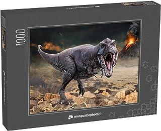 monpuzzlephoto Puzzle 1000 pièces Illustration en 3D d'une scène de Tyrannosaurus Rex - Puzzles Classiques dans Une boîte ...
