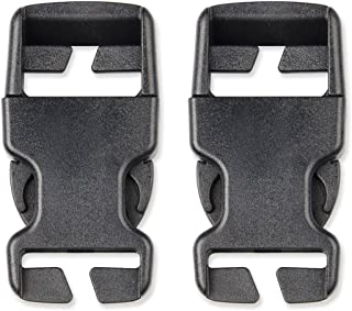 DYZD Multi-Size Plastic Buckle Repair Kit Quick Release Buckles No Sewing Required Buckles for Backpack Bag (25 mm, 2pcs Black)