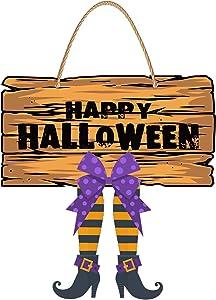 Devil Boots Design for Halloween Front Door Decor,Halloween Wall hangings for Home, Windows, Halloween Party Decorations,Use on Indoor or Outdoor Windows, Walls and Doors.