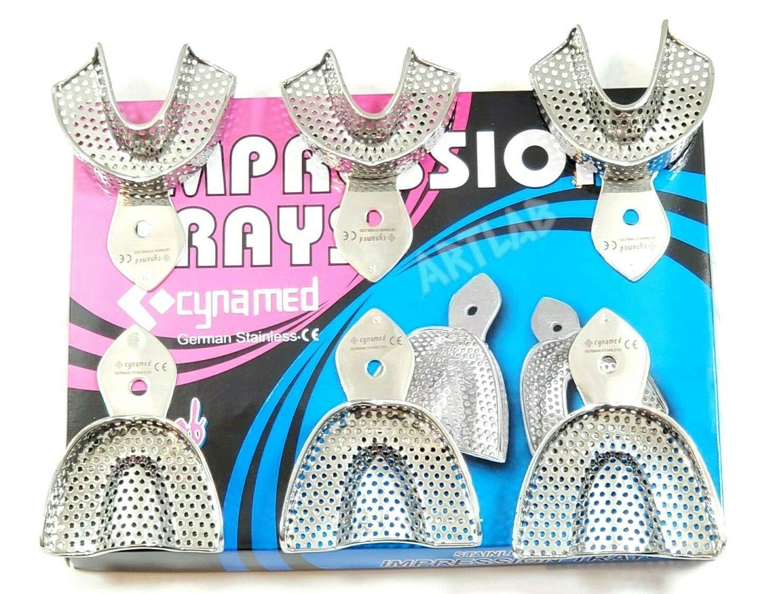 Sale item Baltimore Mall Premium German Dental Autoclavable Impression Metal Stainl Trays