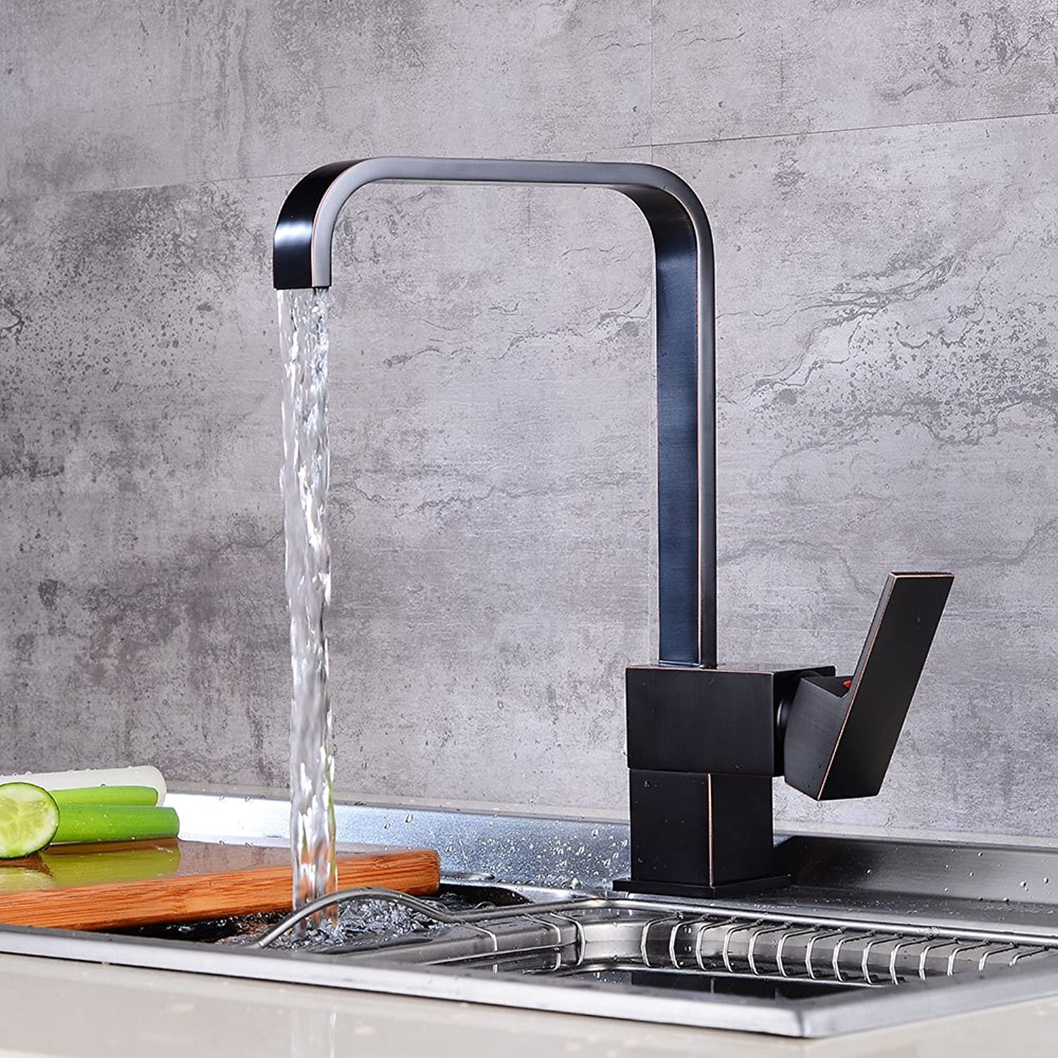 Sink Tap European Black Kitchen Dish Dish Cold Hot redary Dish Water Tap Water Faucet
