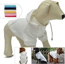 Lovelonglong Blank Basic Hoodie Sweatshirt for Dogs 100% Cotton 12 Colors 11 Sizes Fits Small Medium Dachshund Large Dog