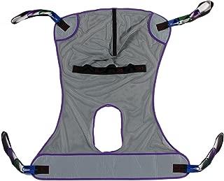 Full Body Mesh Commode Patient Lift Sling, 600lb Weight Capacity (Medium)