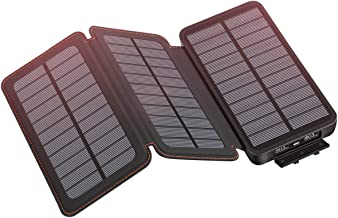 Solar Charger 24000mAh, SOARAISE Solar Phone Charger with 3 Solar Panels Weatherproof Portable Charger Power Bank for iPhone, ipad, Samsung, and Outdoor Camping