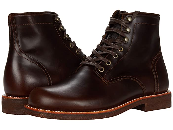 1920s Style Mens Shoes | Peaky Blinders Boots Georgia Boot Small Batch 6 Plain Toe Stacked Heel $160.99 AT vintagedancer.com