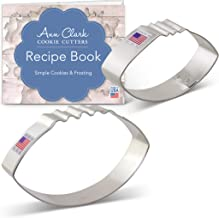 Ann Clark Cookie Cutters 2-Piece Football Cookie Cutter Set with Recipe Booklet