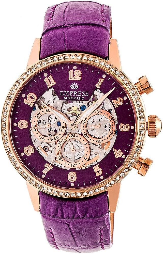 Empress beatrice - orologio automatico da donna, cassa in acciaio inossidabile con placcatura in oro 18 kt EMPEM2006
