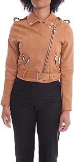 Luxury Fashion   H2o Italia Women ESITOTABACCO Brown Faux Leather Outerwear Jacket   Spring-summer 20