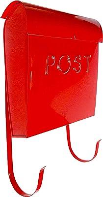 NACH MB-44766 Euro Wall mounted mailbox, Red