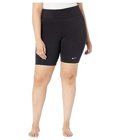 Nike Plus Size NSW Leg-A-See Bike Shorts (Black/Black/White) Women