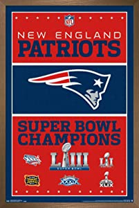 Trends International NFL New England Patriots - Champions 19 Wall Poster, 22.375