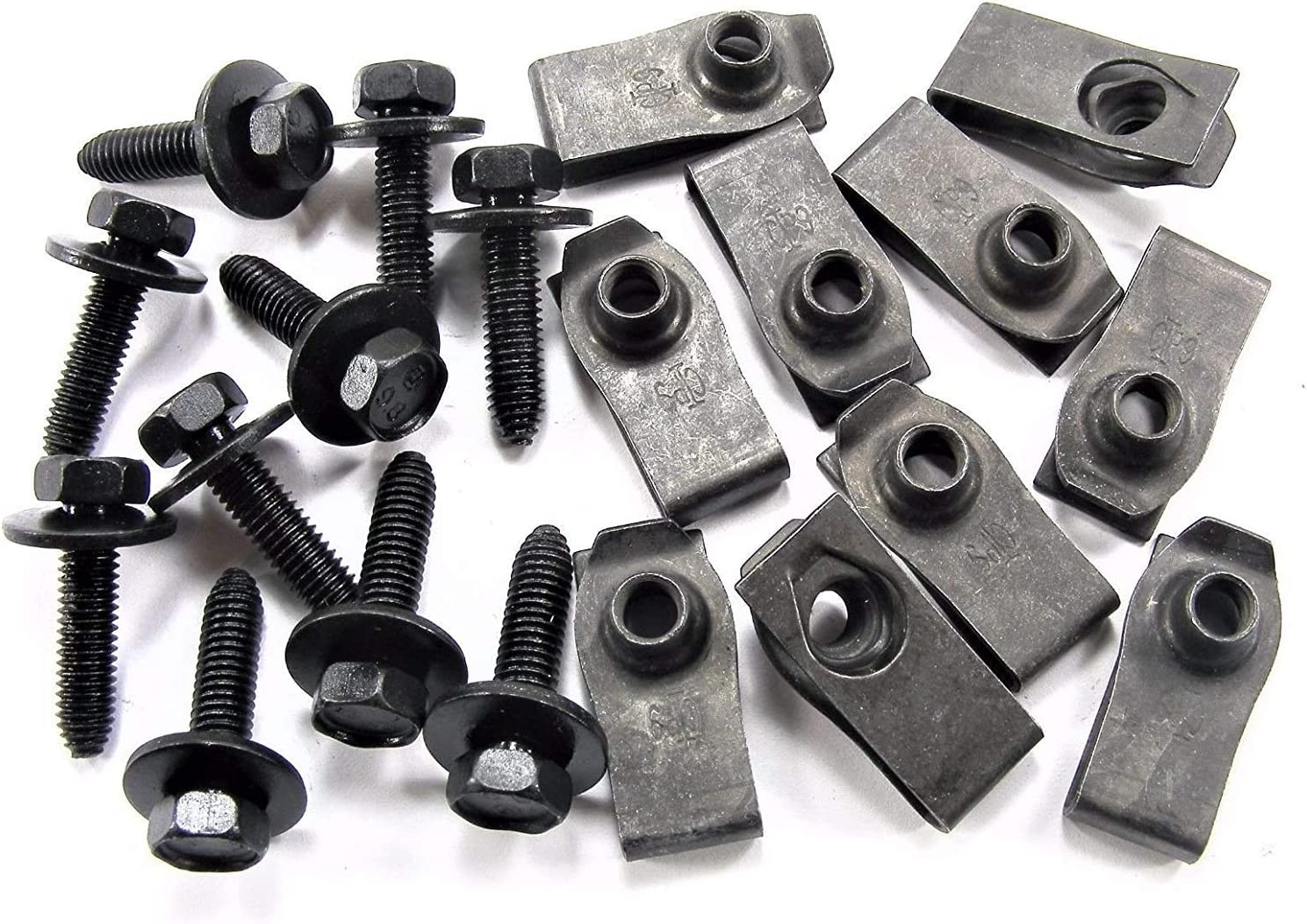 Online Auto Supply for Gorgeous GM Truck U-nut Clips- Bolts M6-1.0 Body sale