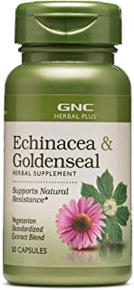 GNC Herbal Plus Echinacea & Goldenseal, 50 Capsules, Supports Natural Resistance