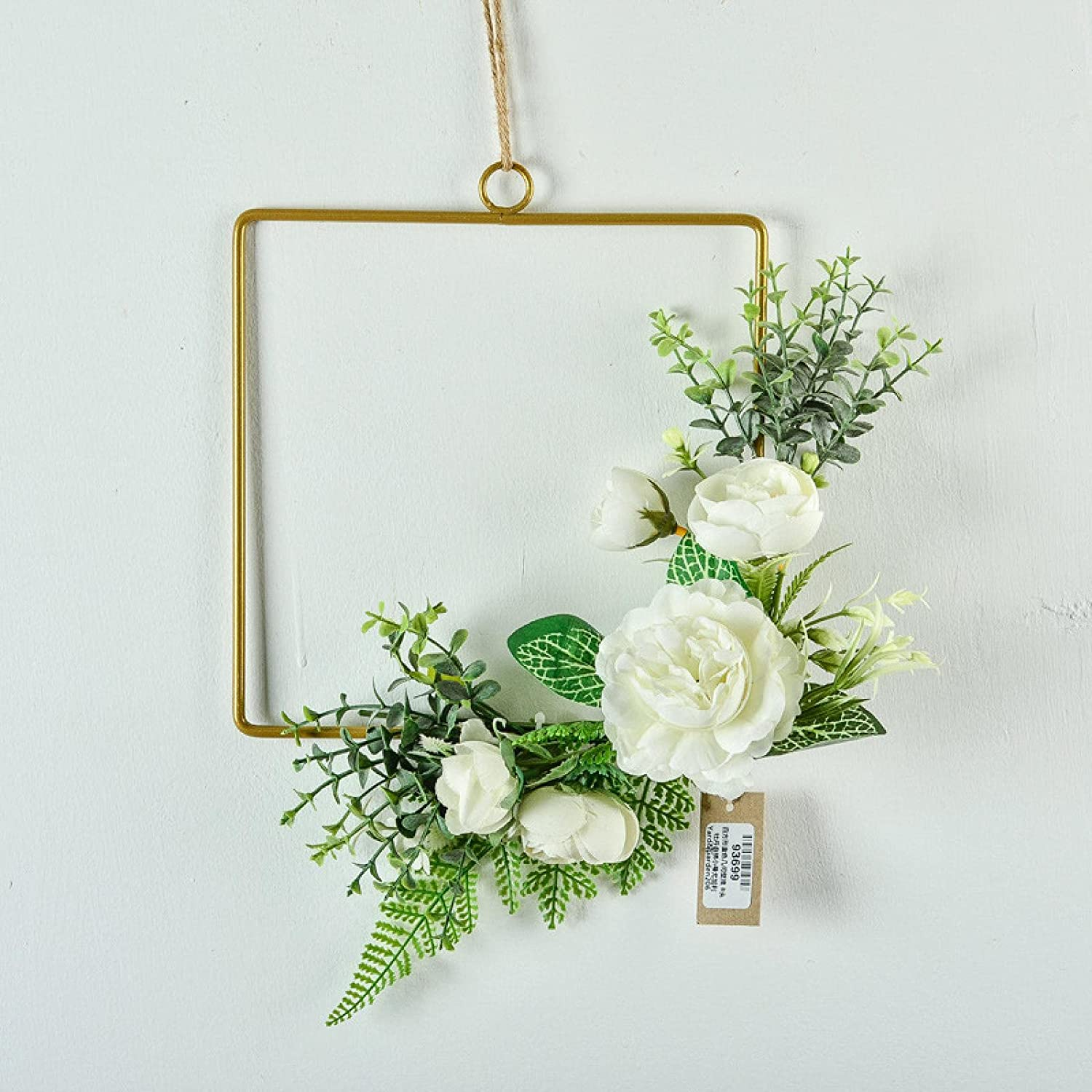 Artificial Eucalyptus Wall Spasm price Hanging Décor Peony Wrought Iro White Safety and trust