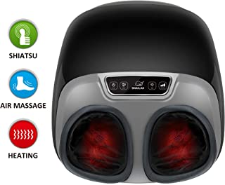 Snailax Shiatsu Foot Massager with Heat - Electric Foot Massage Machine with Adjustable Air Compression Rolling Kneading Massage and Foot Warmer Function for Foot Spa Therapy & Muscle Pain Relief