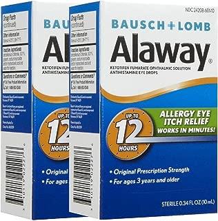Bausch & Lomb Alaway Itch Relief Eye Drops-0.34 oz, 2 pk