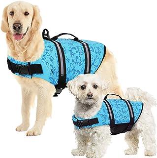hongyupu Chaleco Salvavidas Perro Peque/ño Chalecos Salvavidas para Perros Abrigos para Perros peque/ños Impermeables Abrigos para Perros Impermeables y c/álidos Blue,XS