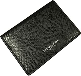 Michael Kors Mens Warren Business Card Holder/Wallet Leather Black