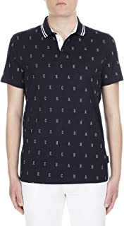 Armani Exchange Men's 3GZF93 Polo Shirt, Multicolour (A-o Outline Logo B 6501), Large
