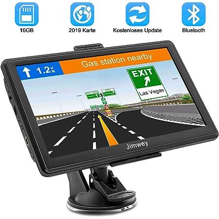 Bluetooth Navigationsgerät Für Auto Lkw Navigation Pkw Navi Navigationssystem 7 Zoll 16g Kostenloses Kartenupdate Mit Freisprecheinrichtung Poi Blitzerwarnung Sprachführung Fahrspur 52 Europa Eu Karte Navigation