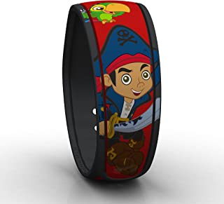 Disney Parks Exclusive Captain Jake MagicBand Red Link It Later Magic Band - Skully - Never Land Pirates