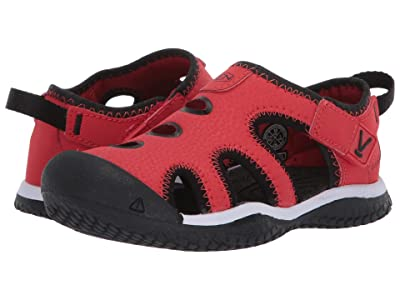 Keen Kids Stingray (Toddler/Little Kid) (Black/Fiery Red) Boy