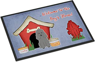 BIRSY Dog House Collection Poodle Silver Indoor Or Outdoor Mat 24x36 BB2822JMAT Multicolor 16x24(IN)